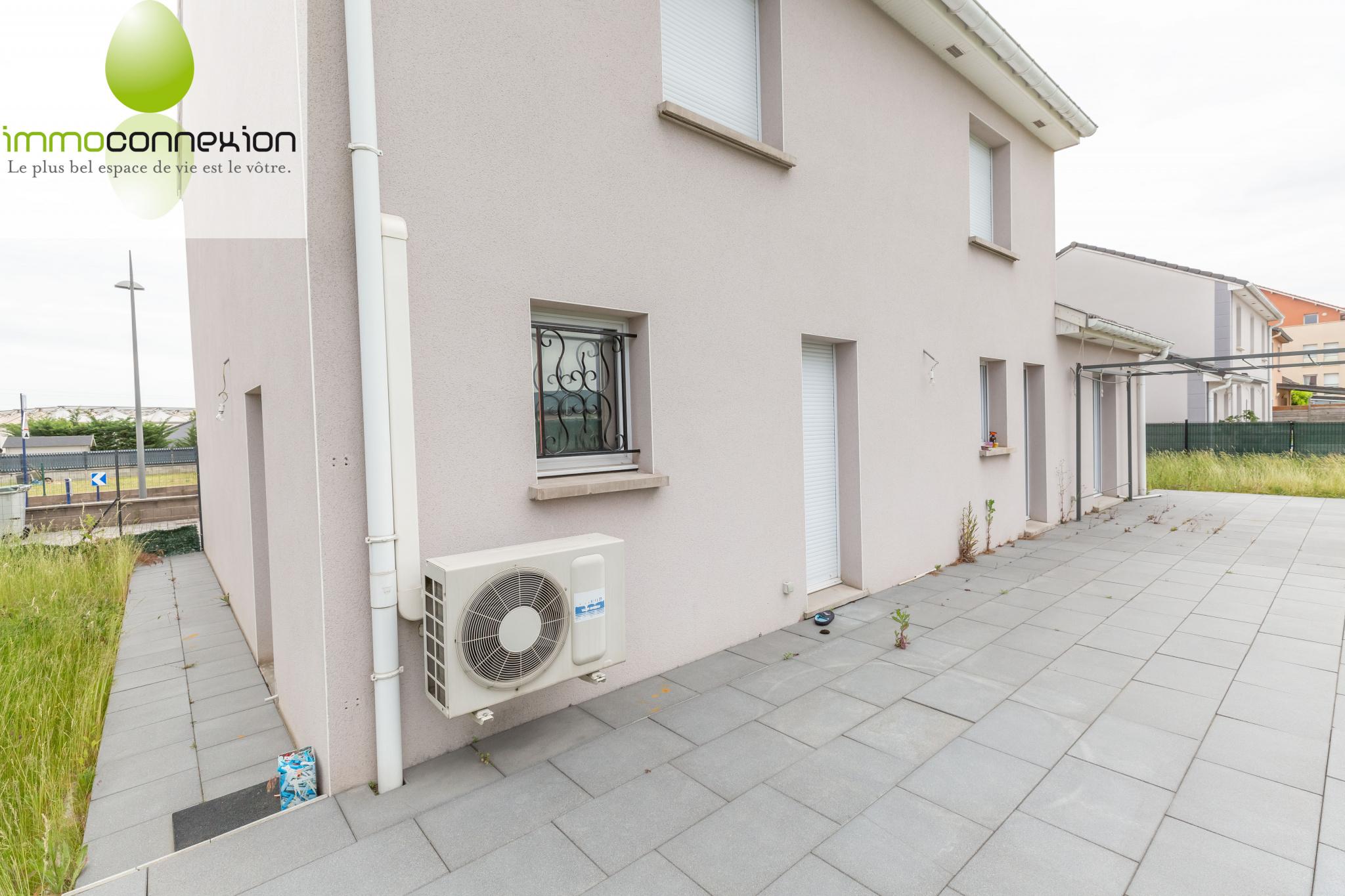 Maison Amnéville façade arrière et terrasse